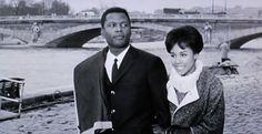 Sidney Poitier and Diahann Carroll in Paris Blues. #amazingfilm #loveaffair #legendarycinema