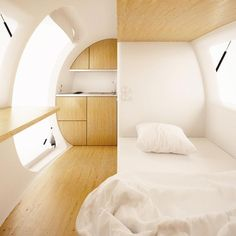 """Have you ever wanted to just """"get away from it all"""" – escape the rat race, and un-plug from chaotic daily life? Well, the Ecocapsule, from the Slovakian firm Nice Architects, may have you covered. Not only does this super-cool, low-energy compact home combine elements of retro Airstream coolness with 22nd Century Jetson's design – …"""