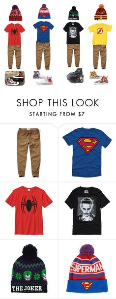 """boys superhero"" by jaiden-ortiz on Polyvore featuring Hollister Co., Converse, men's fashion and menswear"
