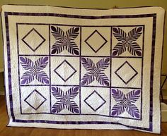 Jean Battle has used the feathered elegance blocks to create this lovely quilt for her daughter. Thanks once again to our inspired customers for letting us show off their talent. All Craft, Dressmaking, Battle, Daughter, Quilts, Blanket, Inspired, Create, Fabric