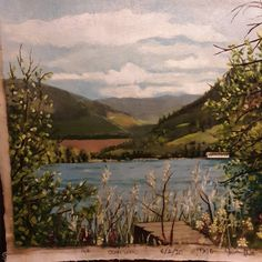 Oil Paintings, Oil On Canvas, River, Summer, Outdoor, Art, Outdoors, Art Background, Summer Time