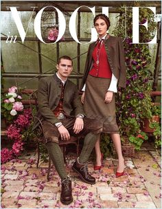 Solanne Maréxhaux Couples with Deimante Misiunaite for Vogue Germany