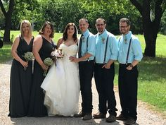 Bridal party. May in Oklahoma. Arbuckle Wedding Chapel outdoors.