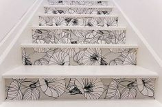 Best Creative Staircase Designs For Contemporary Exclusive Place Of Living : Floral Wallpaper Stairs Design Ideas Wallpaper Stairs, Wallpaper Ideas, White Wallpaper, Baby Wallpaper, Wallpaper Gallery, Classy Wallpaper, Special Wallpaper, Bright Wallpaper, Unique Wallpaper