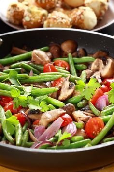 Green Bean and Mushroom Medley (the picture is deceiving.  It has carrots in it but not cherry tomatoes as show. I don't mind, just need this note as a reminder)