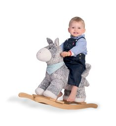 Kaloo Les Amis Rocking Donkey - Multi - No Size Making Wooden Toys, Traditional Toys, French Brands, Fur Collars, Donkey, Little Pony, Printing On Fabric, Kids Toys, Panda