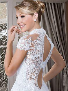 Vestidos de noiva - Coleção Callas (25) Detalhe costas