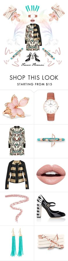 """""""Franco Florenzi Bracelet and Watch"""" by hovlookbook ❤ liked on Polyvore featuring Stephen Webster, River Island, Nevermind, Bobbi Brown Cosmetics, Dolce&Gabbana, Panacea and Monza"""