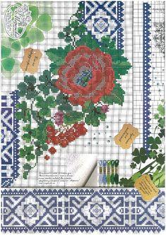 Cross Stitch Borders, Cross Stitch Flowers, Cross Stitch Patterns, Folk Fashion, Pattern Fashion, Needlework, Digital Prints, Projects To Try, Kids Rugs