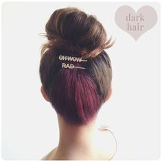 ... Hair Underneath on Pinterest | Dyed Hair, Splat Hair Dye and Ball