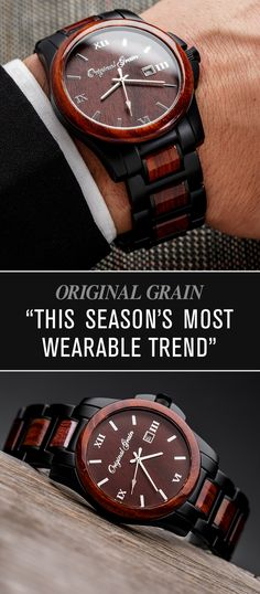 Recapture your look this season with our all-natural wood and steel watches. Sustainably sourced and handcrafted with quality in mind. Free shipping included!