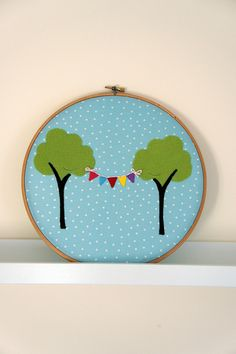 tree and bunting