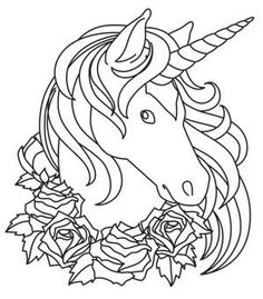 easy coloring pages of unicorns to print Unicorn