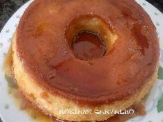 Pudim de pão com leite condensado Doughnut, Pancakes, Pie, Breakfast, Desserts, Food, Snacks, Recipes For Bread Pudding, Sweet Recipes