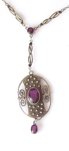 Stunning Arts & Crafts Jugendstil Theodor Fahrner Silver Amethyst necklace | Jewellery & Watches, Vintage & Antique Jewellery, Vintage Fine Jewellery | eBay!