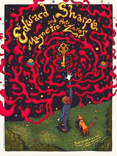 James Flames' Poster for Edward Sharpe and the Magnetic Zeros