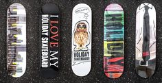 Holday_Range2012_WEB Skateboard Graphics for Holiday Skateboards Co. from Würzburg Germany.