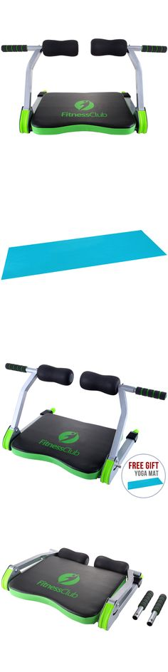 Abdominal Exercisers 15274: Total Workout Fitness Abdominal Exercise Machine W/ Yoga Mat BUY IT NOW ONLY: $37.9