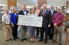 Tennessee Secretary of State Tre Hargett traveled to the Marshall County Memorial Library on Thursday to present a grant check in person. The grant, distributed through the Tennessee State Library and Archives, which falls under Hargett's office, will help with library technology upgrades...