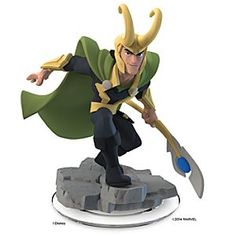 Loki Figure - Disney Infinity: Marvel Super Heroes (2.0 Edition) Marvel Loki Figure - Disney Infinity: Marvel Super Heroes (2.0 Edition) - Pre-Order - Use Loki's scepter powers and hover flight for cosmic combat. Enlist the God of Mischief and <i>The Avengers</i> character, for your own Marvel Super Heroes adventures. A Disney Infinity game figure.