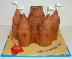 Sand Castle - Birthday Cakes - TipsyCake Chicago