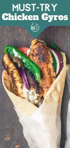 BEST Homemade Chicken Gyro Love your Greek restaurant's gyros? Easy, flavor-packed chicken gyro recipe w/ tzatziki is as delicious & healthier! The Mariande makes all the difference. You can make this right in your skillet for any night of the week! Chicken Gyro Recipe, Chicken Gyros, Chicken Recipes, Chicken Tenders, Chef Recipes, Greek Recipes, Cooking Recipes, Healthy Recipes, Healthy Food