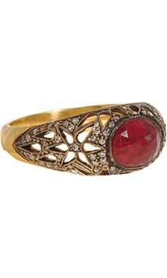 Image result for cathy waterman sapphire ring