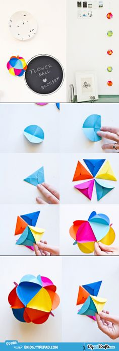 Paper flower ball #DIY...used to make these with my Nana!!