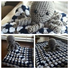 Made this cute guy for my cousin's new little boy Hudson. :) Isn't it cute?…