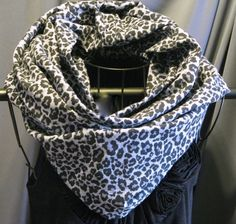 SALE Long Leopard Print Infinity Scarf black by ScarfLadyDesigns, $34.20