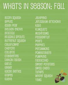 Seasonal Fall Produce Picks!