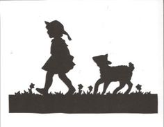 Mary had a little lamb Mother Goose collection silhouette by hilemanhouse on Etsy https://www.etsy.com/listing/83069455/mary-had-a-little-lamb-mother-goose
