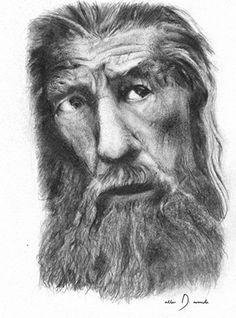 Beard Man  Pencil by Allen D. Aramide