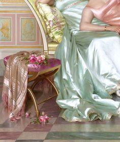 "the-garden-of-delights: "" ""La Soirée"" (detail) by Vittorio Reggianini (1858-1938). """
