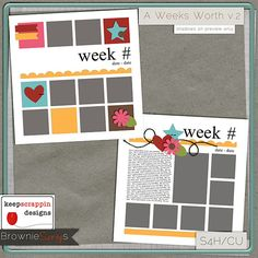 $1.50 A Weeks Worth v.2 by keepscrappin designs