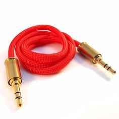 Double Tap Auxiliary Bullet Cable - Red