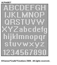 Original filet crochet pattern artwork © Karens Cradle Creations, Only two stitches are used in thiseasy open, lacey filet crochet pattern – the chain and the double crochet stitch. Filet Crochet Alphabet Charts, Filet Crochet Name Pattern, Crochet Borders, Free Crochet, Crochet Edgings, Crochet Stitches, Bobble Crochet, Blanket Crochet, Crochet Granny