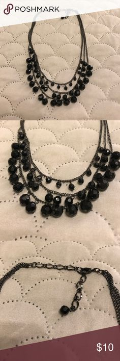 Bay to Baubles Necklace from Stitch Fix, Black Bay to Baubles Necklace from Stitch Fix, Black, worn once and in perfect condition, adjustable sizing Bay to Baubles Jewelry Necklaces