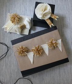 ✂ That's a Wrap ✂  diy ideas for gift packaging and wrapped presents - pom pom and banner garland