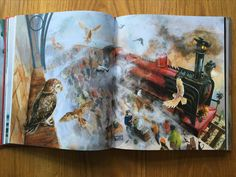From a signed (by Illustrator) copy of the Illustrated edition of 'Harry Potter and the Philosopher's Stone'