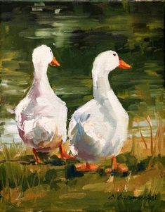 """Daily Paintworks - """"Buds"""" by Carol Carmichael"""