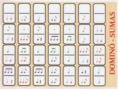 MUSIQUINO (Educación Musical Infantil y Primaria): primaria (dominó musical) Music Math, Music Classroom, Music Lessons For Kids, Music For Kids, Music Theory Worksheets, Sheet Music Art, Rhythm Games, Music And Movement, Piano Teaching