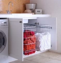 Laundry Storage solution - Modern - Baskets - sydney - by Tansel Laundry Storage, Laundry Mud Room, Laundry Room Design, Bathroom Storage, Kitchen Storage Solutions, Laundry, Storage, Bathroom Design, Storage Solutions