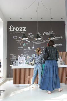 Frozz (frozen yogurt) Retail design; Amsterdam