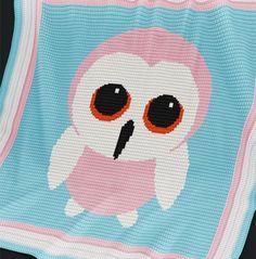 Crochet Pattern | Baby Blanket / Afghan - Baby Owl