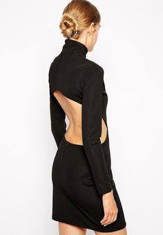 tailliertes Kleid Langarm mit Aussparungen, schwarz 19.27 Schwarz, Kleider,  Fabelhafte Kleider, Niedliche bd8c555876