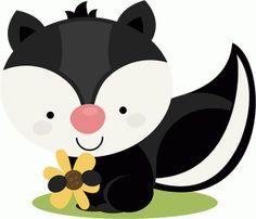Silhouette Design Store - View Design #46442: miss kate cute skunk