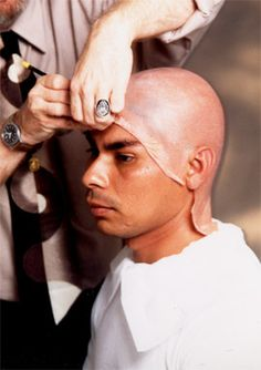 Cinema Makeup School - Bald Cap Training with Vinyl Plastic and Rubber Latex Bald Caps - Character Makeup Training