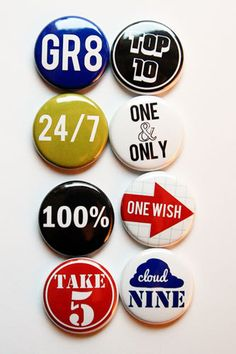 Number Phrases 2 Flair by aflairforbuttons on Etsy, $6.00 #flair #flairbuttons #aflairforbuttons