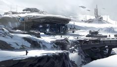 Halo 5. SnowZone - Warzone , sparth . on ArtStation at https://www.artstation.com/artwork/halo-5-snowzone-warzone